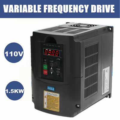 1.5KW 2HP 110V VARIABLE FREQUENCY DRIVE INVERTER VFD VSD Single To 3 Phase