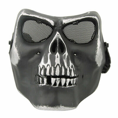 Tactical Airsoft Paintball Game Party Protective Full Face Skull Mask Bone NICE