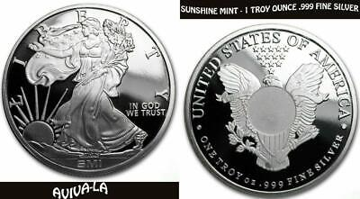 Sunshine Mint SMI 1 Troy Oz. Walking Liberty Proof-Like .999 Fine Silver Round