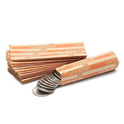 25 COIN WRAPPERS FOR QUARTERS - pack of 25 - quarter coin wrapper
