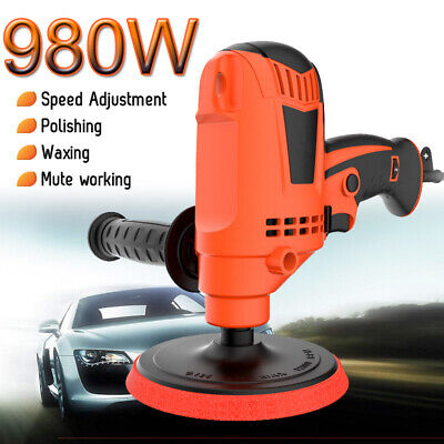 Electric Polisher Car Polishing Waxing Machine 980W 125mm 850-3200RPM 6  NEW