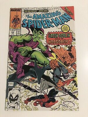 The Amazing Spider-Man #312 (Feb 1989, Marvel) Green Goblin Vs HobGoblin Vintage