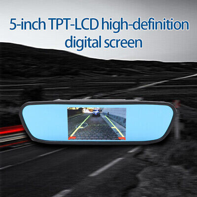 5inch TFT LCD 800*480 Car Rear View Mirror Monitor For Parking Reverse HD Camera
