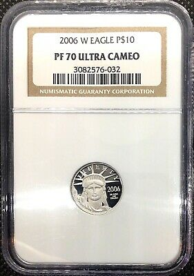 2006 W 1/10 oz $10 Platinum American Eagle Proof Coin NGC PF70 Ultra Cameo .9995
