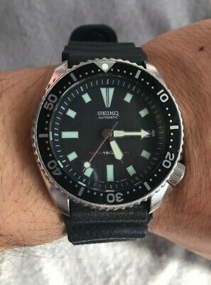Vintage Seiko Automatic Day-Date 7002-700A Divers 150M Fully Working
