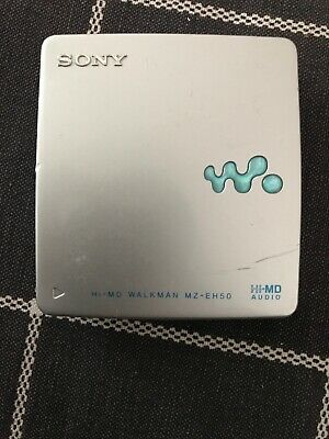 USED SONY Professional MZ-EH50 Silver HiMD MiniDisc Walkman, MdLP, Tested, Unit