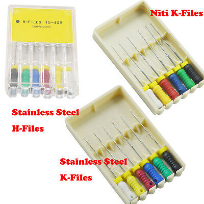 25mm NITI /Stainless Steel Hand Files Dental Root Canal Endo K/H-Files #015 #040