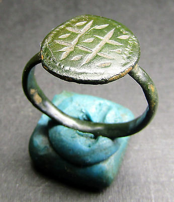 Ancient Bronze Ring. Beautiful Patina! (L7).