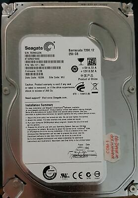 "Seagate 250Gb Barracuda HDD PC/Desktop 3.5""SATA Hard Disk Drive Disc"