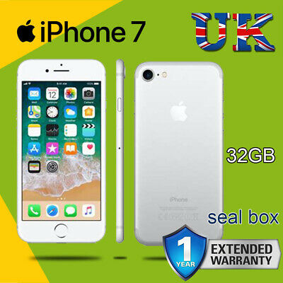 Brand New Apple iPhone 7 32GB Silver Unlocked  Smartphone Sealed in Box 1Yr Wty