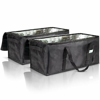 """Commercial Insulated Food Delivery Bags Set of 2-22"""" x 10"""" x 10"""" Waterproof"""