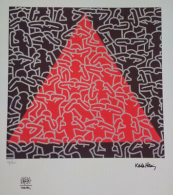 Rare Keith Haring sérigraphie Untitled limited large print mint condition