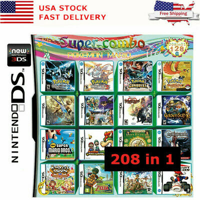 208 In 1 Games Multi Cartridges For Nintendo DS NEW NDS NDSL-NDSi 3DS 2DS XL LL