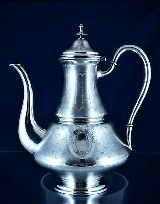 Amazing, Antique, 800- Silver Teapot, Belgian, Ca 1870!!!