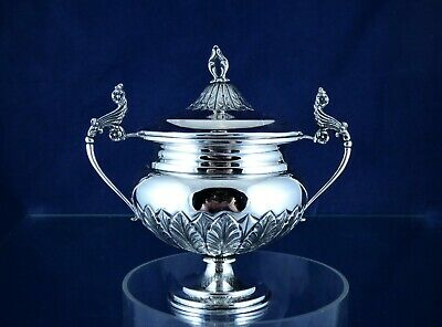 Gorgeous, Antique, 800- Silver Sugar Holder, Italy Ca 1930!!!
