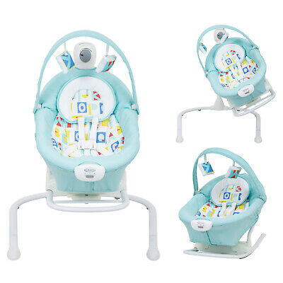 Graco Block Alphabet Duet 2 In 1 Sway / Swing With Portable Rocker From Birth