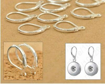 Sterling Silver Earring Ear Hooks Lever Back Open not individually stamped DIY