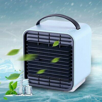 Electronic Air Cooler Conditioner Cool Cooling For Bedroom Portable Mini Fan AU