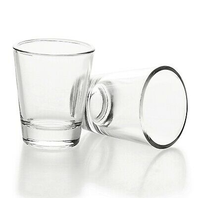 1.5 oz/45ml Shot Glass with Heavy Base, Clear Glass Round 2 Pack