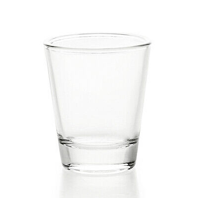 1.5 oz/45ml Shot Glass with Heavy Base, Clear Glass Round 1 Pack