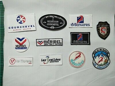patch ecusson 3 VALLEES COURCHEVEL MERIBEL LES MENUIRES VAL THORENS ski esf ffs