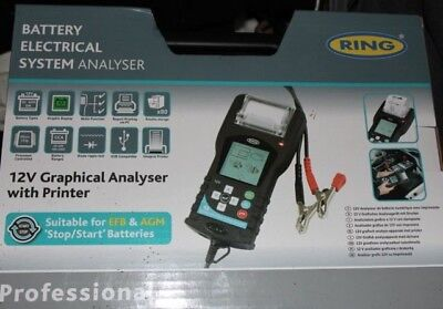 Ring RBAG700 12v Graphical Battery Analyser Tester with Printer - NEW in BOX