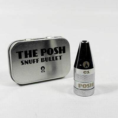 Cheeky One Posh Chrome C1 Metal Posh Bullet Rocket Sniff Snuff Dispenser
