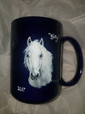 CUSTOM handpainted MUG of your HORSE PONY CAT DOG comes in GIFT BOX
