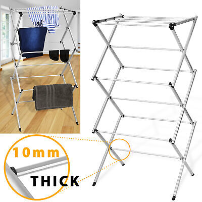 3 Tier Clothes Airer Indoor Outdoor Drying Horse Rack Laundry Washing Foldable