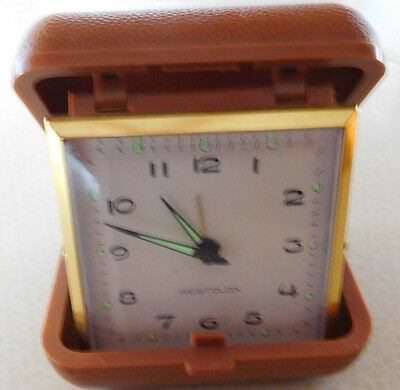 Working ~ VNTG Westclox Mechanical Wind-Up Travel Alarm Clock ~ Taiwan