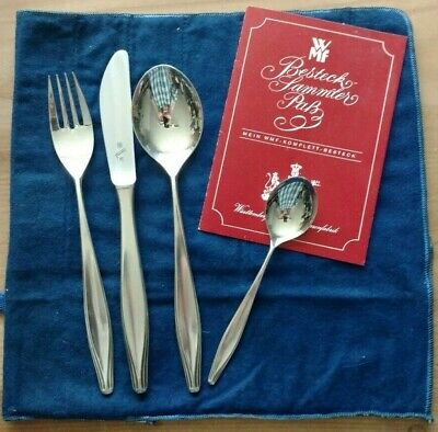 Vintage German WMF Friudur 90 Silverplate Table Setting for 12, Serving Pieces