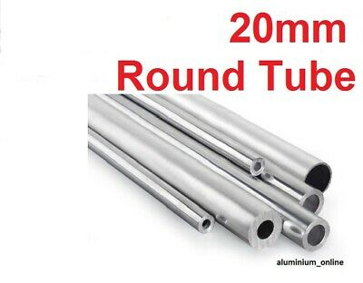 ALUMINIUM ROUND TUBE 20mm, 2 thickness, lengths up to 100mm - 2500mm