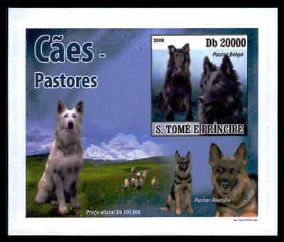 S.TOME EPREUVE DE LUXE HUNDE HUND DOGS DOG CHIENS CHIEN DELUXE SHEET dr49