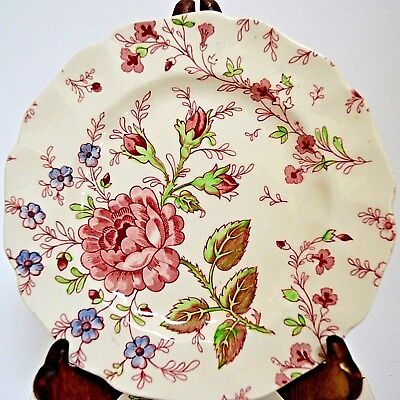 Johnson Brothers Rose Chintz Bread Plate Pink Red Mark England