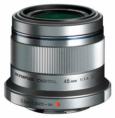 OLYMPUS Single Focus Lens M. ZUIKO DIGITAL 45mm F1.8 Silver