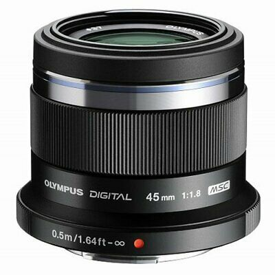 OLYMPUS Single Focus Lens M. ZUIKO DIGITAL 45mm F1.8 Black