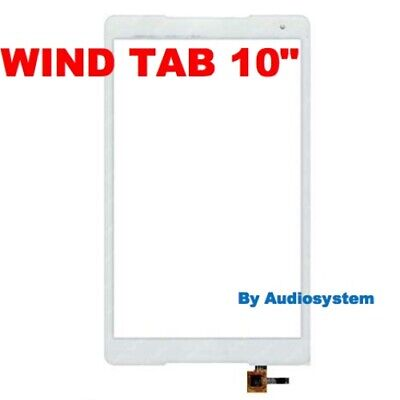 VETRO+ TOUCH SCREEN per TABLET WIND TAB 10 LCD per DISPLAY RICAMBIO BIANCO NUOVO