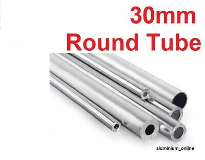 ALUMINIUM ROUND TUBE 30mm, 2 thickness, lengths up to 100mm - 1000mm