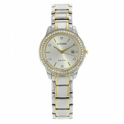 Citizen Eco-Drive FE1174-50A Women's 28mm Crystal Accent Two-Tone Watch