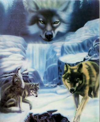 Mystic Wolf in Winter - 8x10 Art Print - Ready to Frame