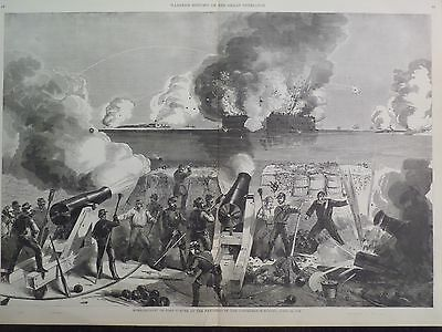 Fort Sumter Bombardment By Batteries Of The Confederate States Civil War 1861