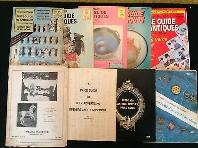 Antique Price Guides Jewelry, Beer Donald Bull, Antique Trader Lot of 9 1953-81