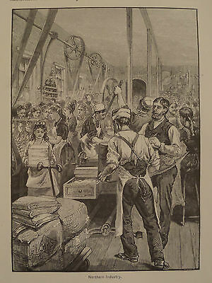 American Manufacturing Industry Revolution in the North Engraving 1880