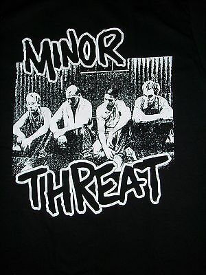 Free Same Day Shipping Brand New Old School Punk Minor Threat Group Shirt Large