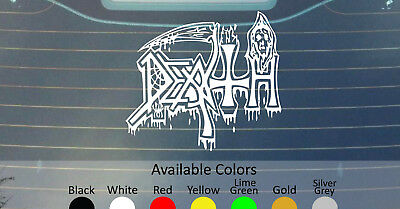 Death Old Logo Vinyl Decal Sticker Custom Size/Color Possessed Obituary Cynic
