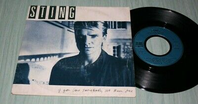 Sting 45 Tours If You Love Somebody Set Them Free Am Records 390 018-7 De 1985