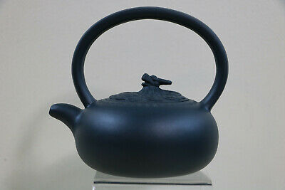 Wonderful Handcrafted Signed Chinese Yixing Clay Teapot Dragon / Foo Dog Finial