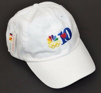 NBC Peacock Olympic Rings Embroidered Hat Cap Channel 10 - NWT