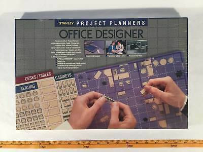 Stanley Project Planners Office Design Kit Grid Reusable Symbols Layout Set New