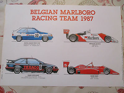 Belgian Marlboro Racing Team 1987 - Collector N° 362/500 - Dessins De Clovis -